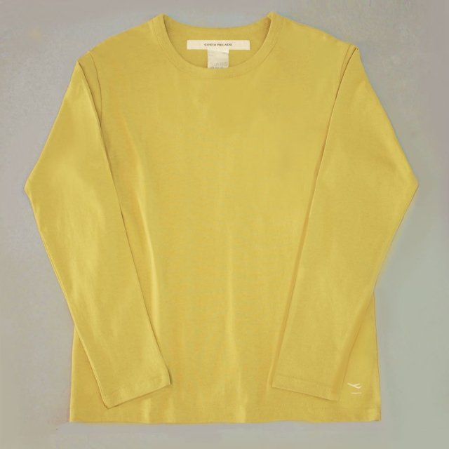 """<img class='new_mark_img1' src='https://img.shop-pro.jp/img/new/icons6.gif' style='border:none;display:inline;margin:0px;padding:0px;width:auto;' />T-shirt 7.8oz long sleeves yellow """"departure"""""""
