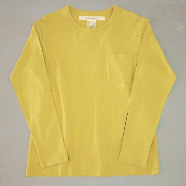 <img class='new_mark_img1' src='https://img.shop-pro.jp/img/new/icons6.gif' style='border:none;display:inline;margin:0px;padding:0px;width:auto;' />T-shirt 7.8oz solid long sleeves yellow with pocket
