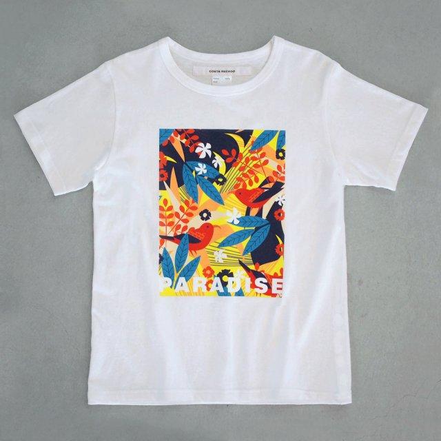 T-shirt bird of paradise /white