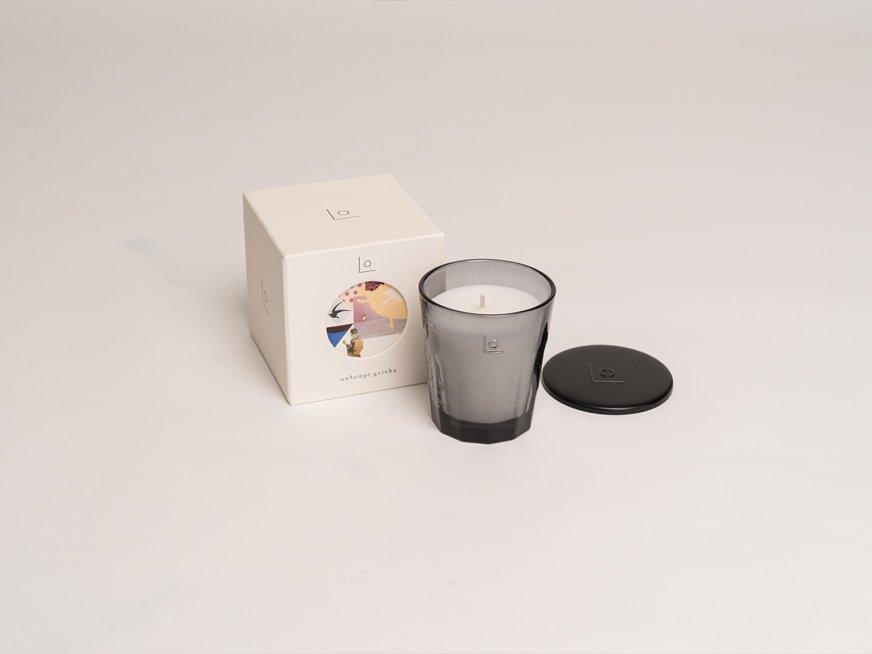 LO vegan fragrance candle/unkempt geisha