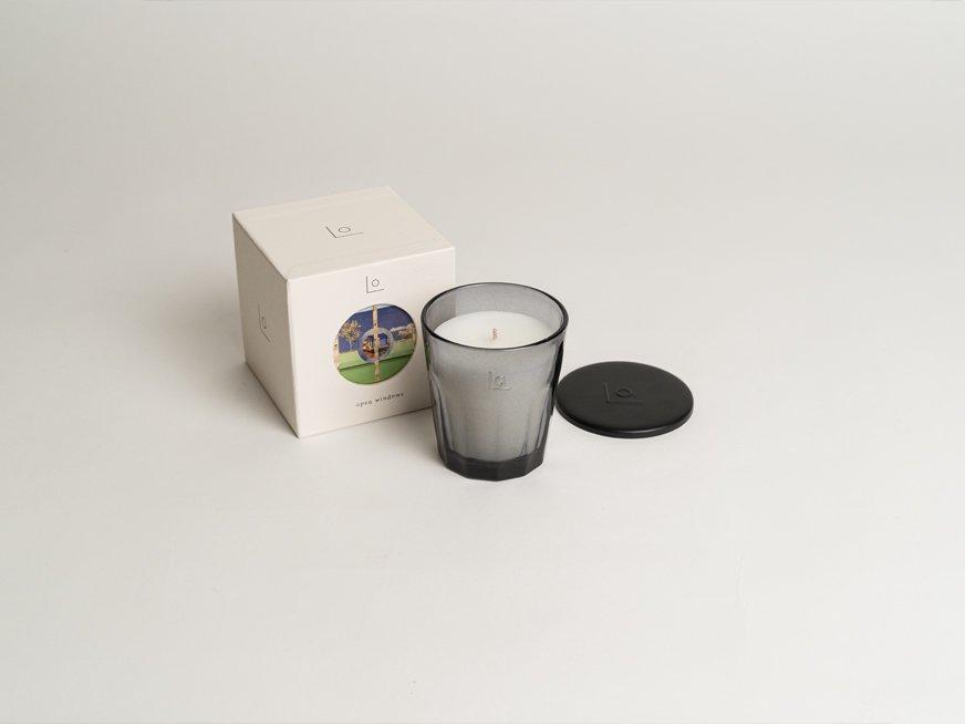 LO vegan fragrance candle/open windows