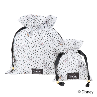 限定生産品 Disney ディズニー 『101匹わんちゃん』デザイン 巾着 大小2枚組 婦人用 レディース 数量限定