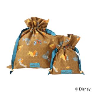 限定生産品 Disney ディズニー 『わんわん物語』デザイン 巾着 大小2枚組 婦人用 レディース 数量限定