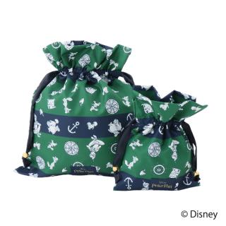 限定生産品 Disney ディズニー 『ピーター・パン』デザイン 巾着 大小2枚組 婦人用 レディース 数量限定