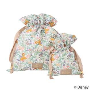限定生産品 Disney ディズニー 『バンビ』デザイン 巾着 大小2枚組 婦人用 レディース 数量限定