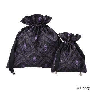"""限定生産品 Disney ディズニーヴィランズ """"マレフィセント"""" デザイン 巾着 大小2枚組 レディース 数量限定"""