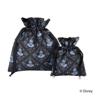 """限定生産品 Disney ディズニーヴィランズ """"アースラ"""" デザイン 巾着 大小2枚組 レディース 数量限定"""