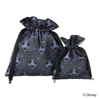 """限定生産品 Disney ディズニーヴィランズ """"女王(魔女)"""" デザイン 巾着 大小2枚組 レディース 数量限定"""