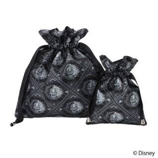"""限定生産品 Disney ディズニーヴィランズ """"クルエラ"""" デザイン 巾着 大小2枚組 レディース 数量限定"""