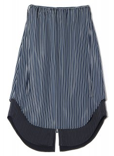 <img class='new_mark_img1' src='https://img.shop-pro.jp/img/new/icons1.gif' style='border:none;display:inline;margin:0px;padding:0px;width:auto;' />Rito (21SS)SATIN STRIPE SKIRT NAVY