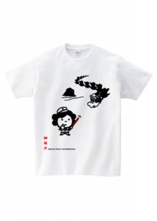 KOJIKIシリーズTシャツ (神迎え )ホワイト・グレー