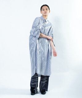 SLEEVE GATHER SHIRT DRESS