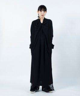TWIST DRAPE DRESS