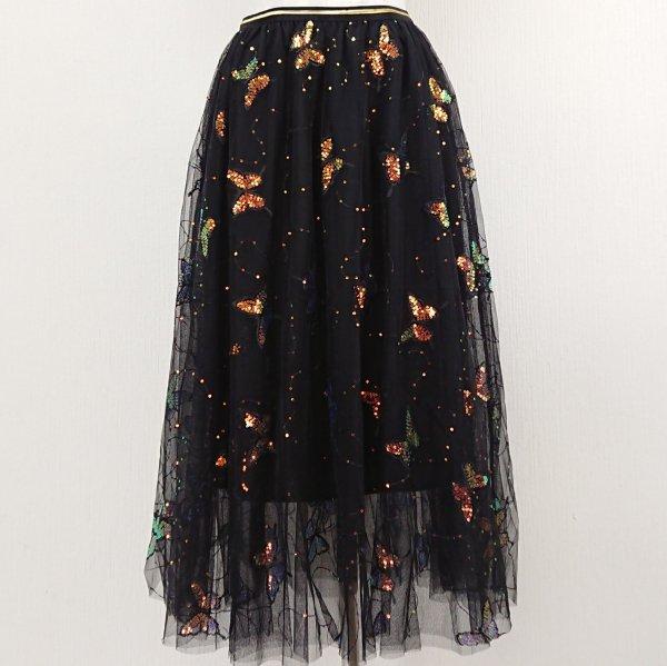 キラキラスパンコールスカート