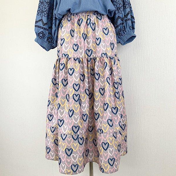 ハート総柄スカート