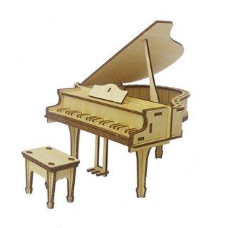 木製パズル  ki-gu-mi  ピアノ(小物入れ)・ チェロ(スマホスタンド) 10%OFF