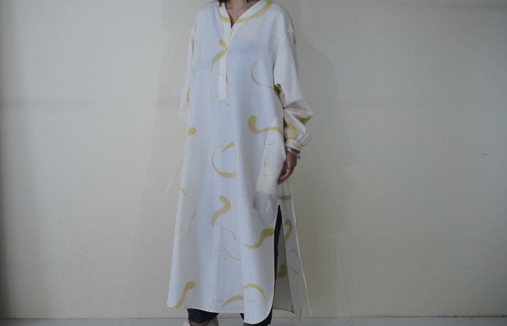 WRYHT SLIT NECK PAJAMA DRESS