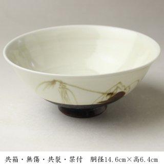 白磁やなぎ茶碗  加藤五山 造