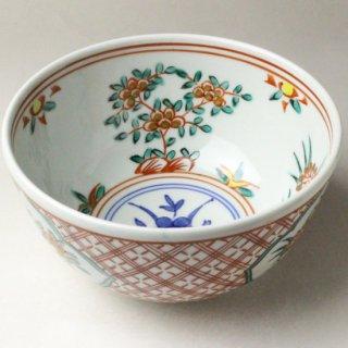 赤絵菓子鉢 二代 叶松谷造