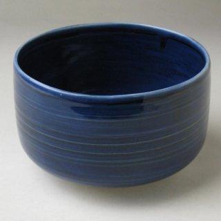 藍彩茶碗 加藤巌 作