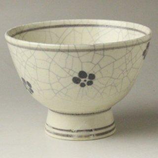 絵高麗梅茶碗 二代 和田桐山 造