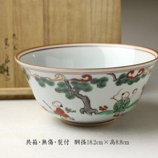 唐子文様菓子鉢 二代 須田菁華造
