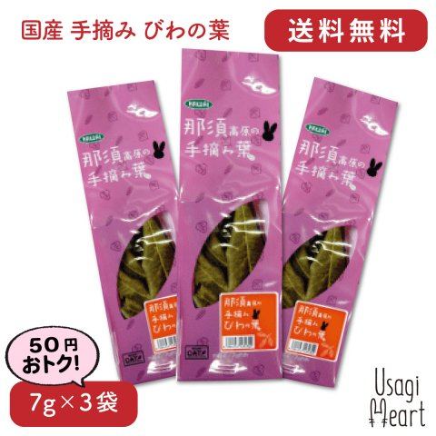 【セット商品】国産 手摘み びわの葉 7g×3袋 | カワイ