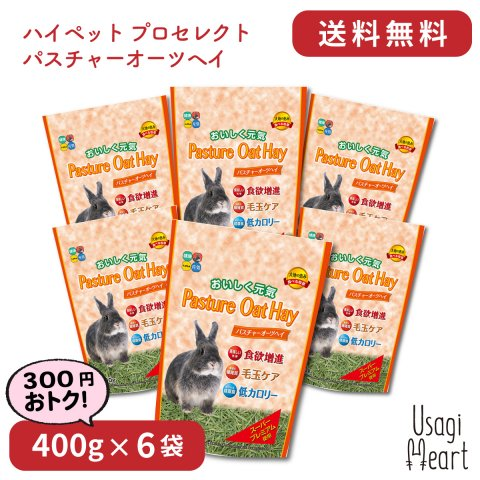【セット商品】パスチャーオーツヘイ プロセレクト 400g×6袋 | ハイペット