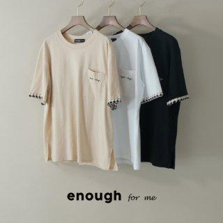 スリーブ刺繍Tシャツ
