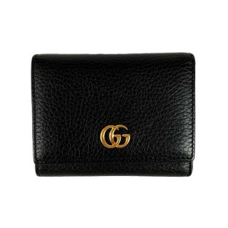 GUCCI<BR> グッチ GGマーモント レザー 二つ折り財布