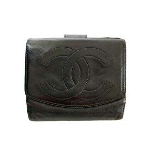 CHANEL<BR> シャネル ココマーク二つ折り財布