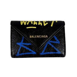BALENCIAGA <BR> バレンシアガ ザ・ペーパーミニ レザー 財布