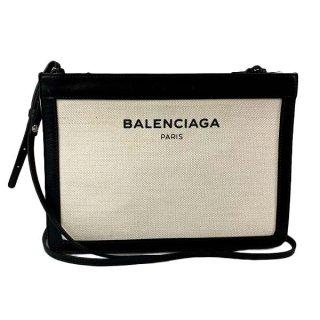BALENCIAGA <BR> バレンシアガ ネイビー ポシェット ショルダーバッグ