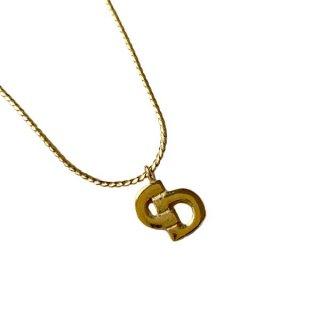 Dior<BR> ディオール  CDロゴ ゴールド ネックレス