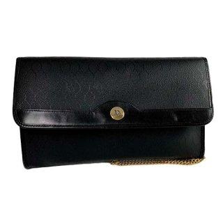 Dior<BR> ディオール ロゴ金具 PVC/レザー チェーンショルダーバッグ