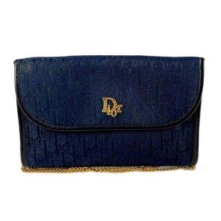 Dior<BR> ディオール トロッター柄 キャンバス チェーンショルダーバッグ