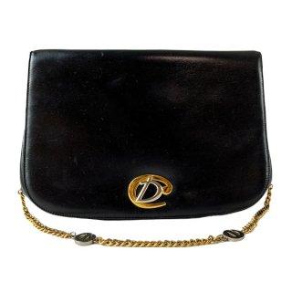 Dior<BR>  ディオール  CD金具 がま口財布付きレザー チェーンショルダーバッグ