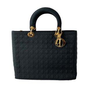 Dior<BR> ディオール ナイロン レディディオールカナージュステッチハンドバッグ