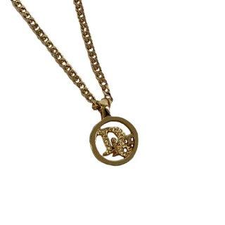 Dior<BR> ディオール ロゴ ネックレス