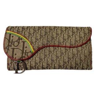 Dior<BR> ディオール ストリートシック/ラスタ サドル型 キャンバス/レザー 長財布