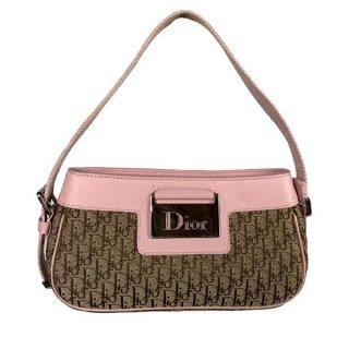 Dior<BR> ディオール ストリートシック/トロッター キャンバス/レザー ハンド バッグ