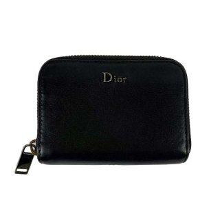 Dior<BR> ディオール ディオールオム レザー ラウンドファスナーカードケース
