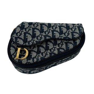 Dior<BR> ディオール サドル トロッター キャンバス/レザー ポーチ