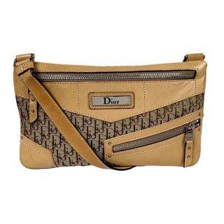 Dior <BR>ディオール トロッター キャンバス/レザー ショルダーバッグ