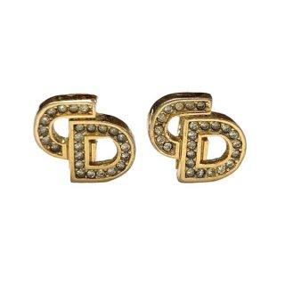 Dior <BR>ディオール CDロゴ ラインストーン イヤリング