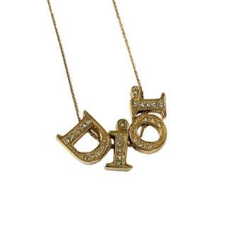 Dior <BR>ディオール ロゴ ラインストーン ネックレス