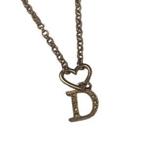Dior <BR>ディオール ハート Dロゴ ネックレス