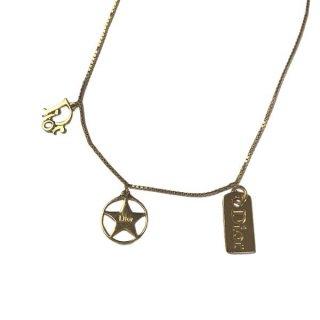Dior <BR>ディオール ロゴ 星 ネックレス