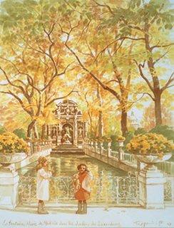 水辺のスケッチ/リュクサンブール公園の泉