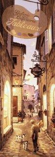 芸術家村の通り